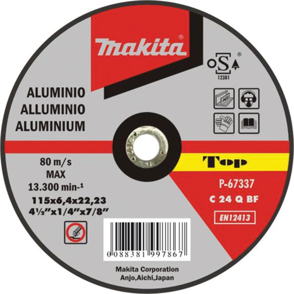Disco de l/áminas de carburo de silicio Makita D-28101