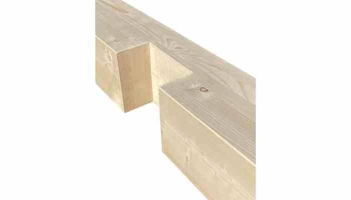 Unión media madera