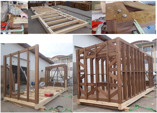 Fabricación Y Montaje De La Estructura Realizada A Partir De Madera Termotratada De Pino Silvestre
